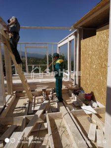 Строительство каркасного дома 198,7 м2 в стиле хайтек в