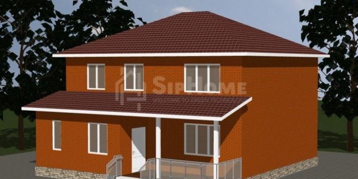 «Крепость» — проект строительства дома из СИП-панелей, 216 кв.м — 7 998 085 тенге