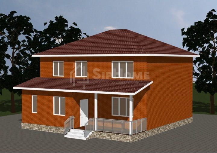 «Крепость» — проект строительства дома из СИП-панелей, 216 кв.м — 6 465 000 тенге