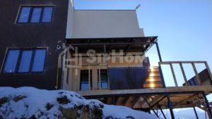 Строительство каркасного дома 198,7 м2 в стиле хайтек в Алматы