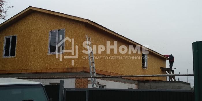 Надстройка на существующий дом из СИП панелей 129 м2