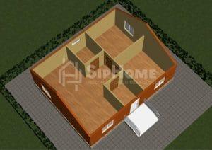 «Меркурий» — дом из СИП-панелей, площадью 75,79 кв.м — 3 618 017 тенге