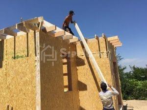Строительство дома из СИП-панелей площадью 65 кв.м в районе Кенсай