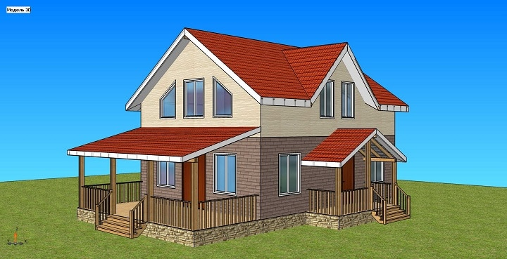«Акбулак» — проект строительства двухэтажного дома 171 м2 — 6 924 661 тенге
