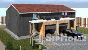Строительство дома на две семьи (Дуплекс) из СИП панелей на 270 квадратных метров.