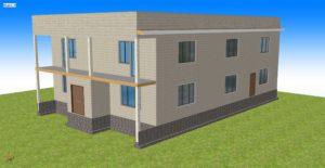 Монтаж двухэтажного каркасного офисного здания