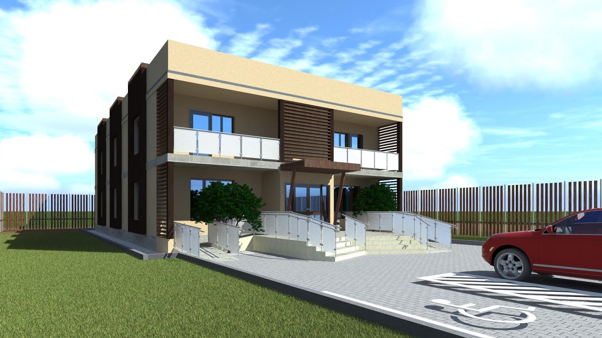 Строительство офисного здания на 481 квадратный метр по каркасной технологии.