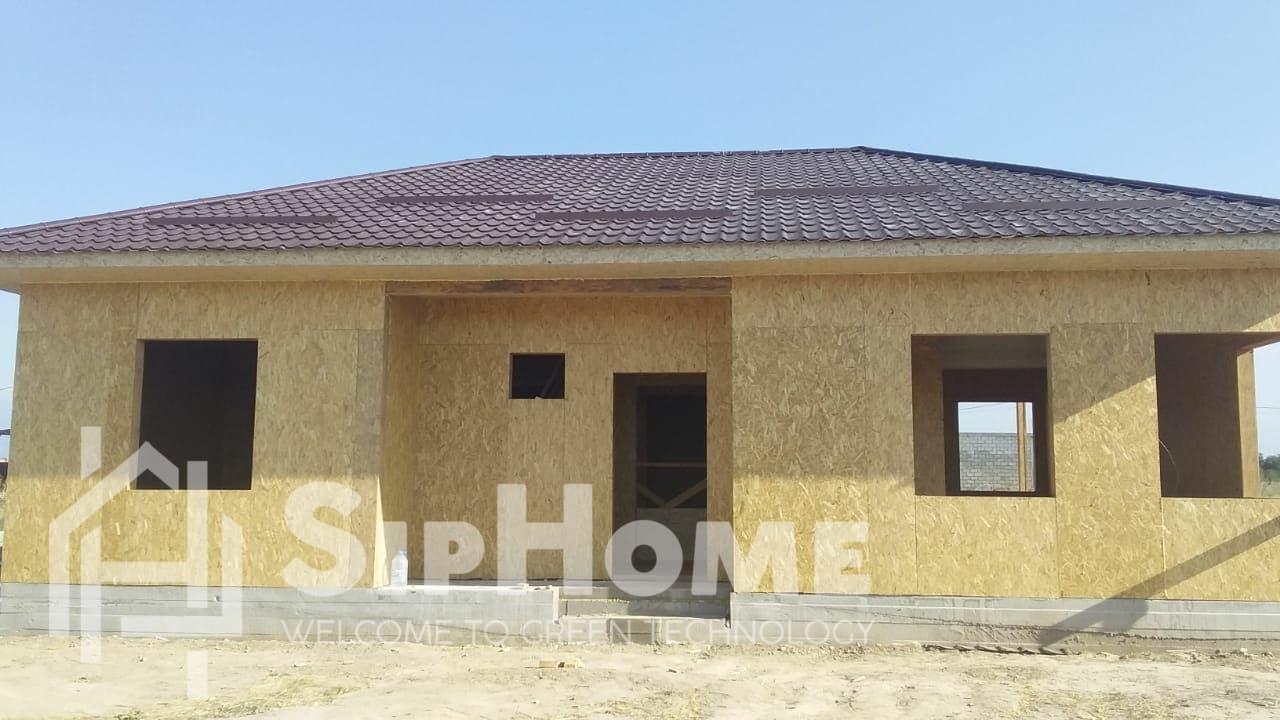 Строительство дома из СИП панелей площадью 148 м2 по проекту Ньюкасл