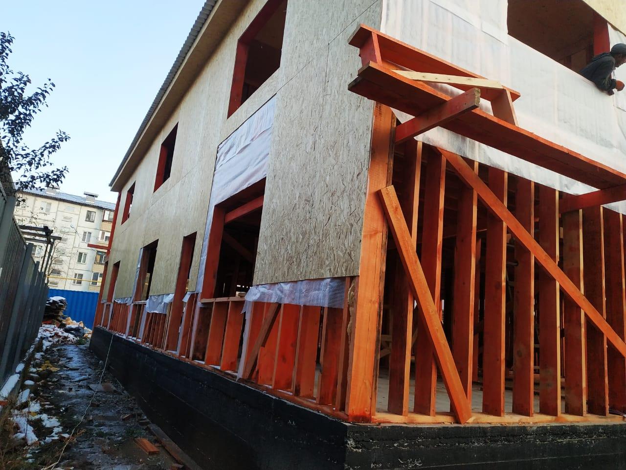 Строительство офисного здания 481 м2 по каркасной технологии