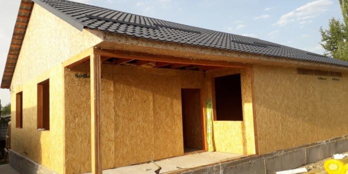 Строительство дома из СИП панелей площадью 117 квадратных метров.(Объект сдан)