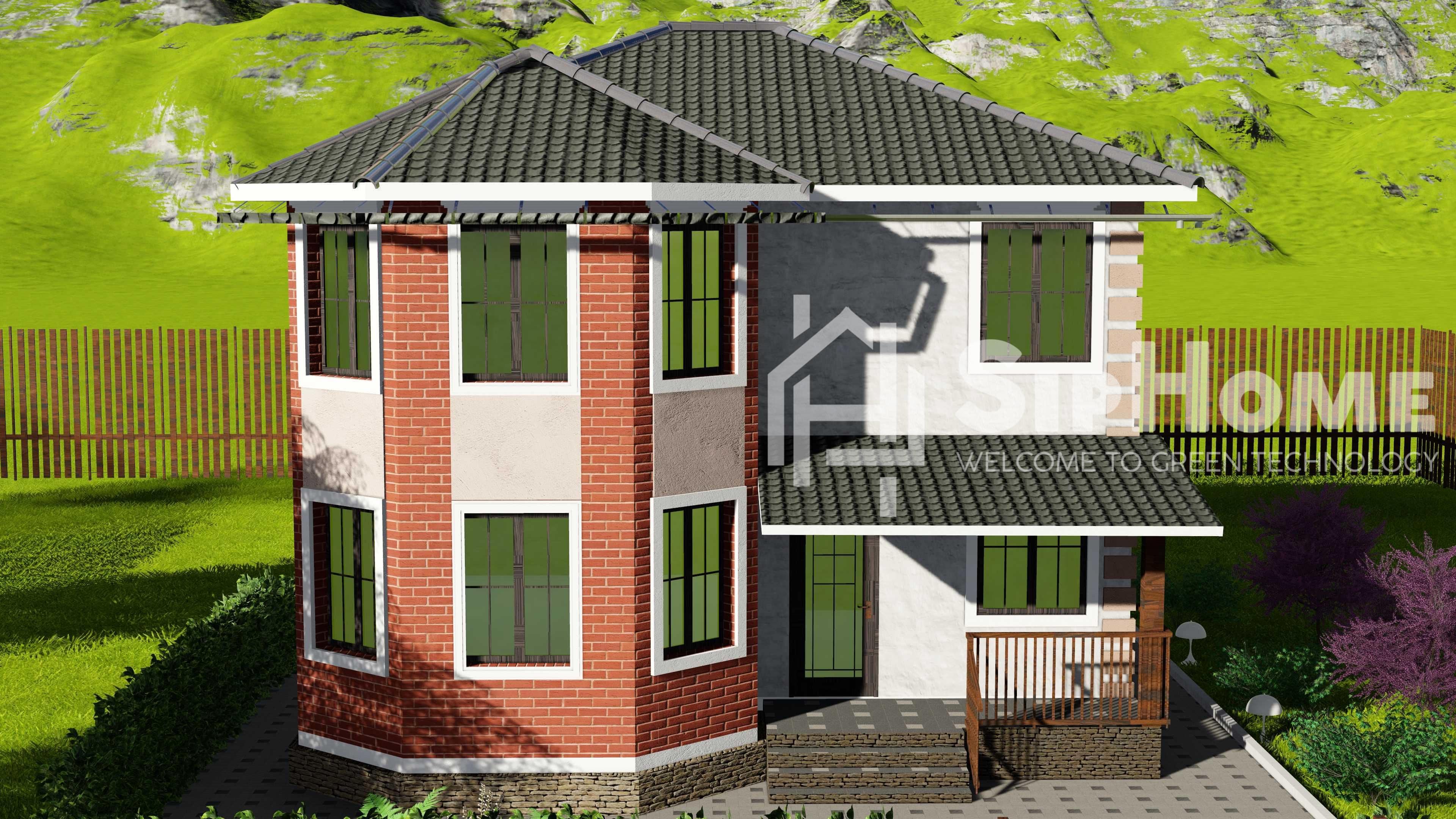 «Питтсбург» — проект дома 156,2 кв.м из SIP панелей — 3243925 тенге