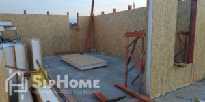 Строительство дома из СИП панелей в мкр. Жана Куат площадью 156 квадратных метров (проект Питтсбург)