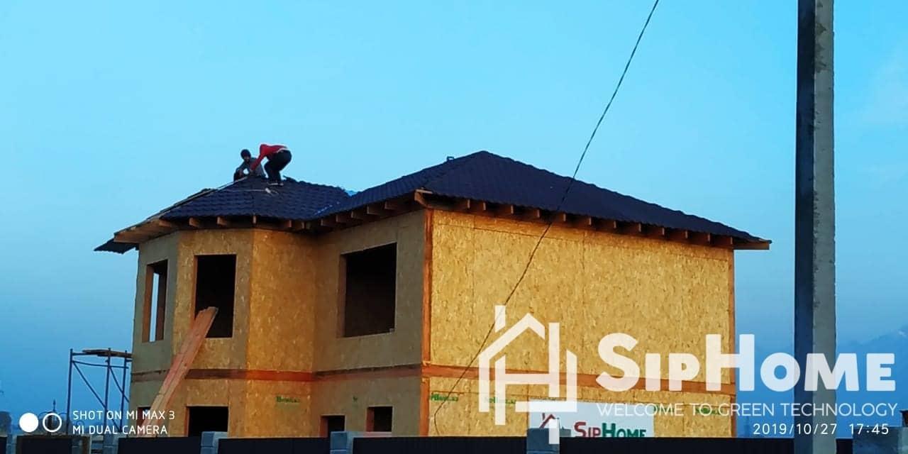 Строительство дома из СИП панелей в мкр. Жана Куат площадью 156 м2