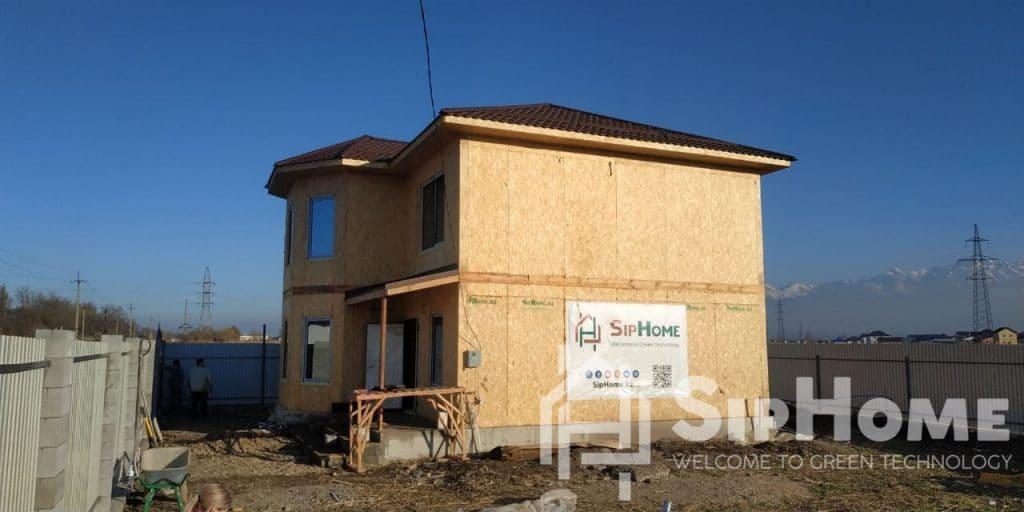 (Объект СДАН!)Строительство дома из СИП панелей в мкр. Жана Куат площадью 156 квадратных метров (проект Питтсбург)
