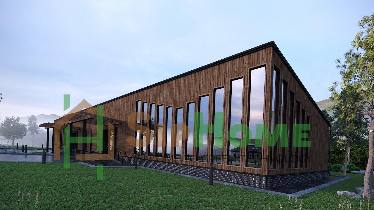 Строительство банкетного зала 440 м2 по каркасной технологии
