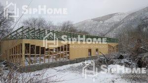 Строительство банкетного зала на 440 квадратных метров по каркасной технологии.