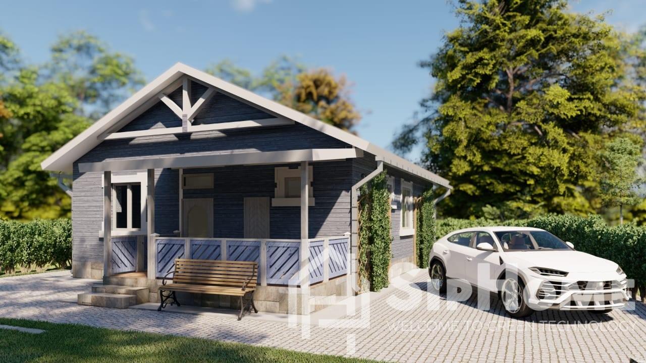 «Скандинавия» — проект дома 95 кв.м по каркасной технологии — 5351525 тенге