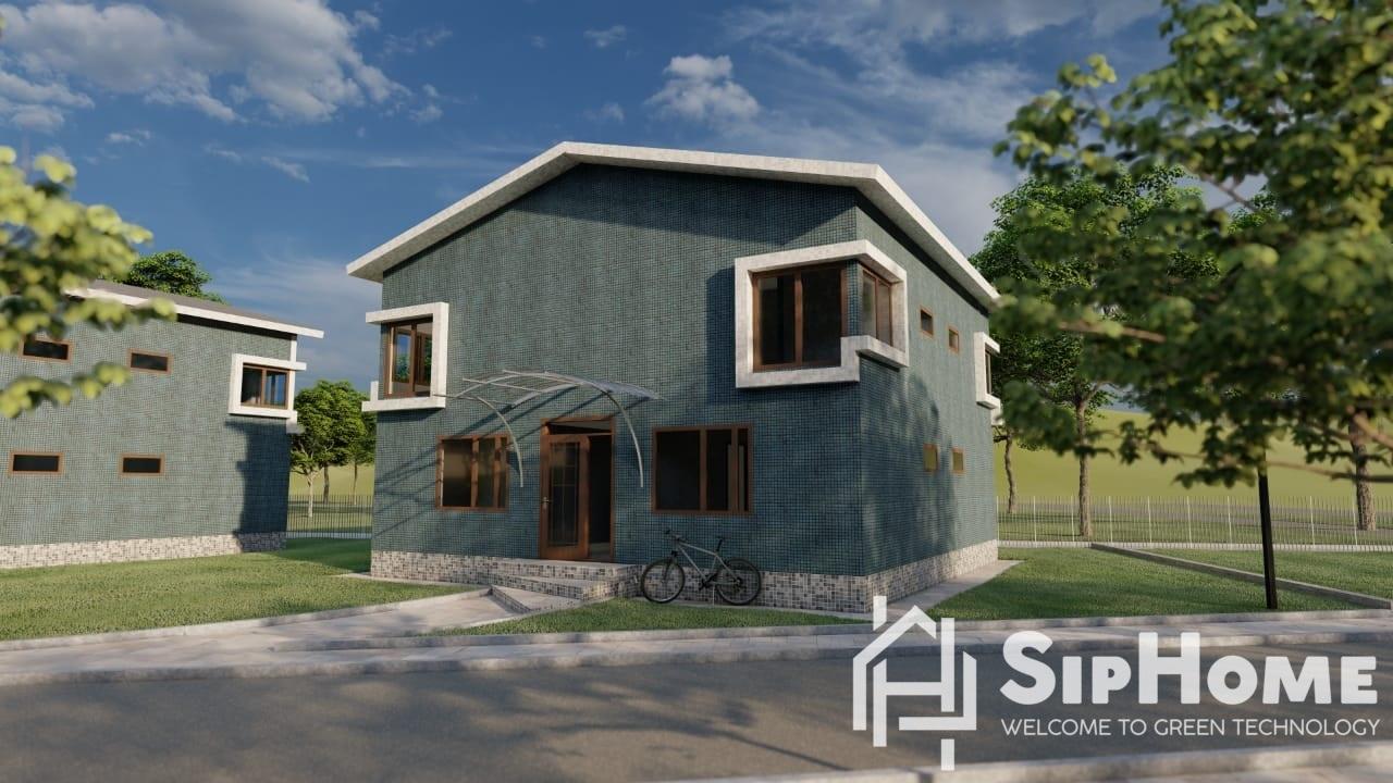 """""""Сакура"""" - проект многоквартирного жилого дома на 200 квадратных метров из СИП панелей- 8 845 210 тенге"""