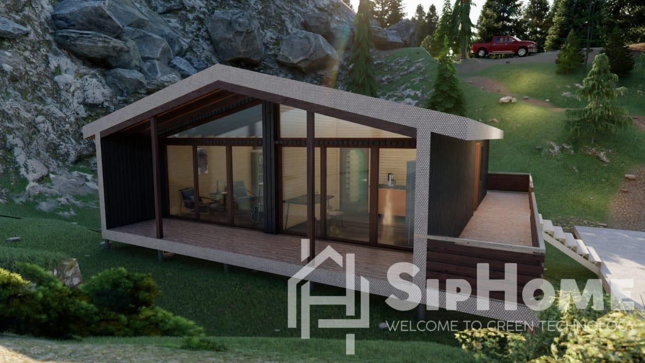 «Эшфилд» - проект дома 72 кв.м из SIP панелей и каркасной технологии - 1667864 тенге
