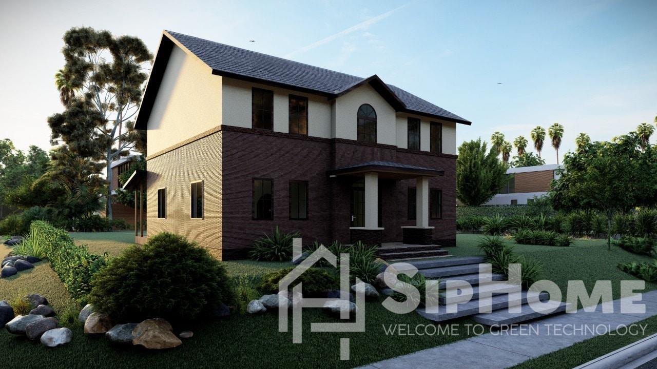 «Эплтон» - проект дома 210 кв.м из SIP панелей - 10488527 тенге