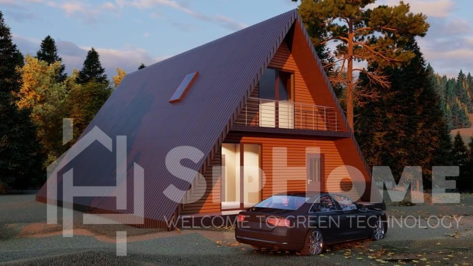 «Твин пайн» — проект дома 147,6 кв.м из SIP панелей — 9383555 тенге