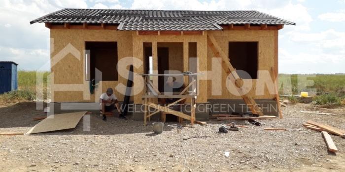 Строительство дома из СИП панелей в Бурундае 63м2 (Объект СДАН)