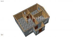Строительство дома из СИП панелей в Бурундае 63м2