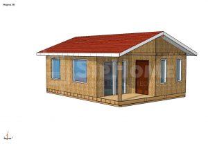 Строительство одноэтажного дома площадью 48 квадратных метров по каркасной технологии в СО Алма (объект СДАН)