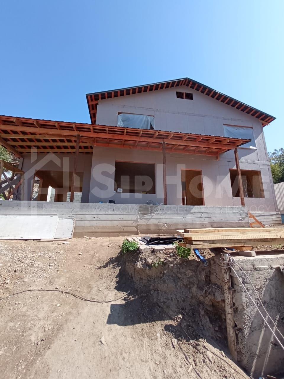 Строительство двухэтажного дома площадью 160 квадратных метров из СИП панелей  (объект СДАН)