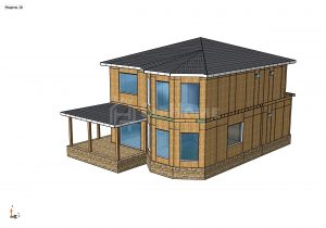Строительство двухэтажного дома площадью 192 квадратных метров из СИП панелей (объект СДАН) (1)