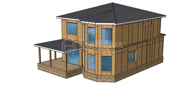 Строительство двухэтажного дома площадью 192 квадратных метров из СИП панелей  (объект СДАН)
