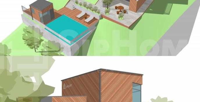 Строительство двухэтажного дома площадью 136 квадратных метров по каркасной технологии (объект СДАН)