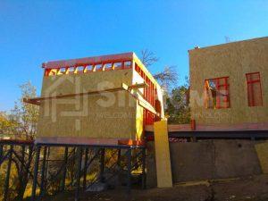 Строительство двухэтажного дома площадью 136 квадратных метров по каркасной технологии (объект СДАН) (1)