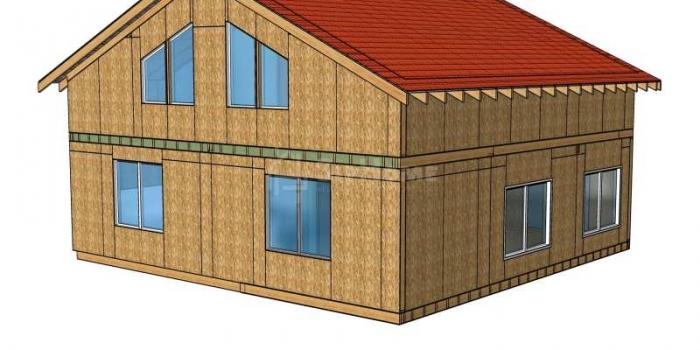 Строительство двухэтажной надстройки площадью 206 квадратных метра из СИП панелей (объект СДАН)