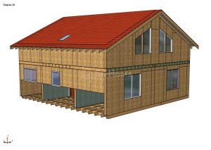 Строительство двухэтажной надстройки площадью 204 квадратных метра из СИП панелей (объект СДАН) (1)