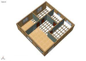 Строительство двухэтажной надстройки площадью 204 квадратных метра из СИП панелей (объект СДАН) (6)