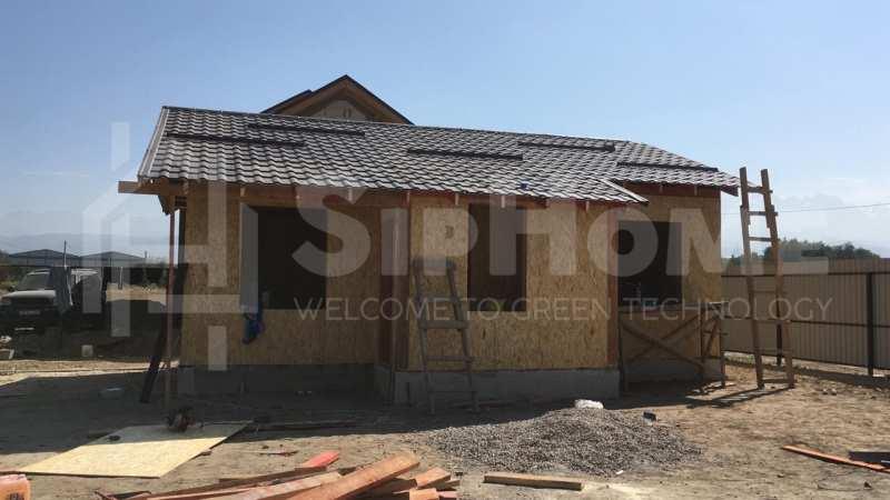 Строительство дома из СИП панелей площадью 63м2 (Объект СДАН)