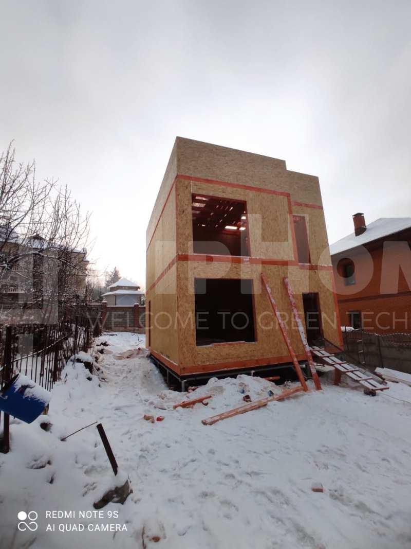 Строительство двухэтажного дома площадью 117 квадратных метров из СИП панелей  (объект СДАН)