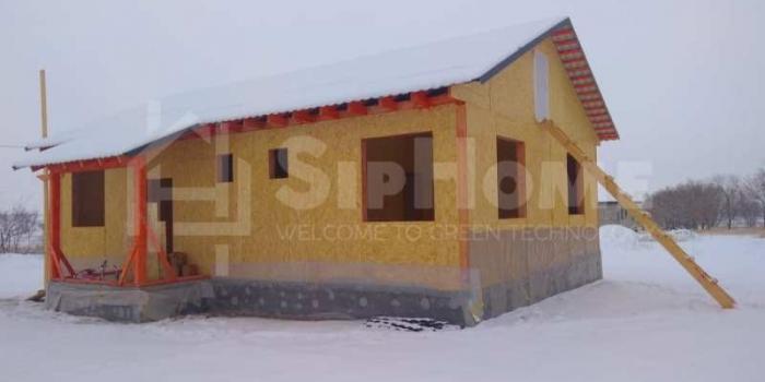 Строительство дома из СИП панелей площадью 98,7м2 (Объект СДАН)
