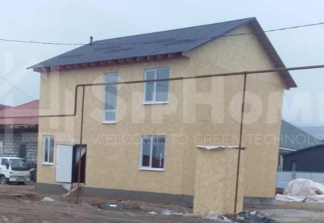 Строительство дома по каркасной технологии площадью 179,76 м2 (Объект СДАН)