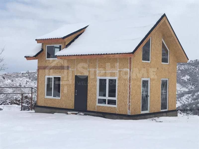 Строительство дома из СИП панелей площадью 57,3 м2 (Объект СДАН)