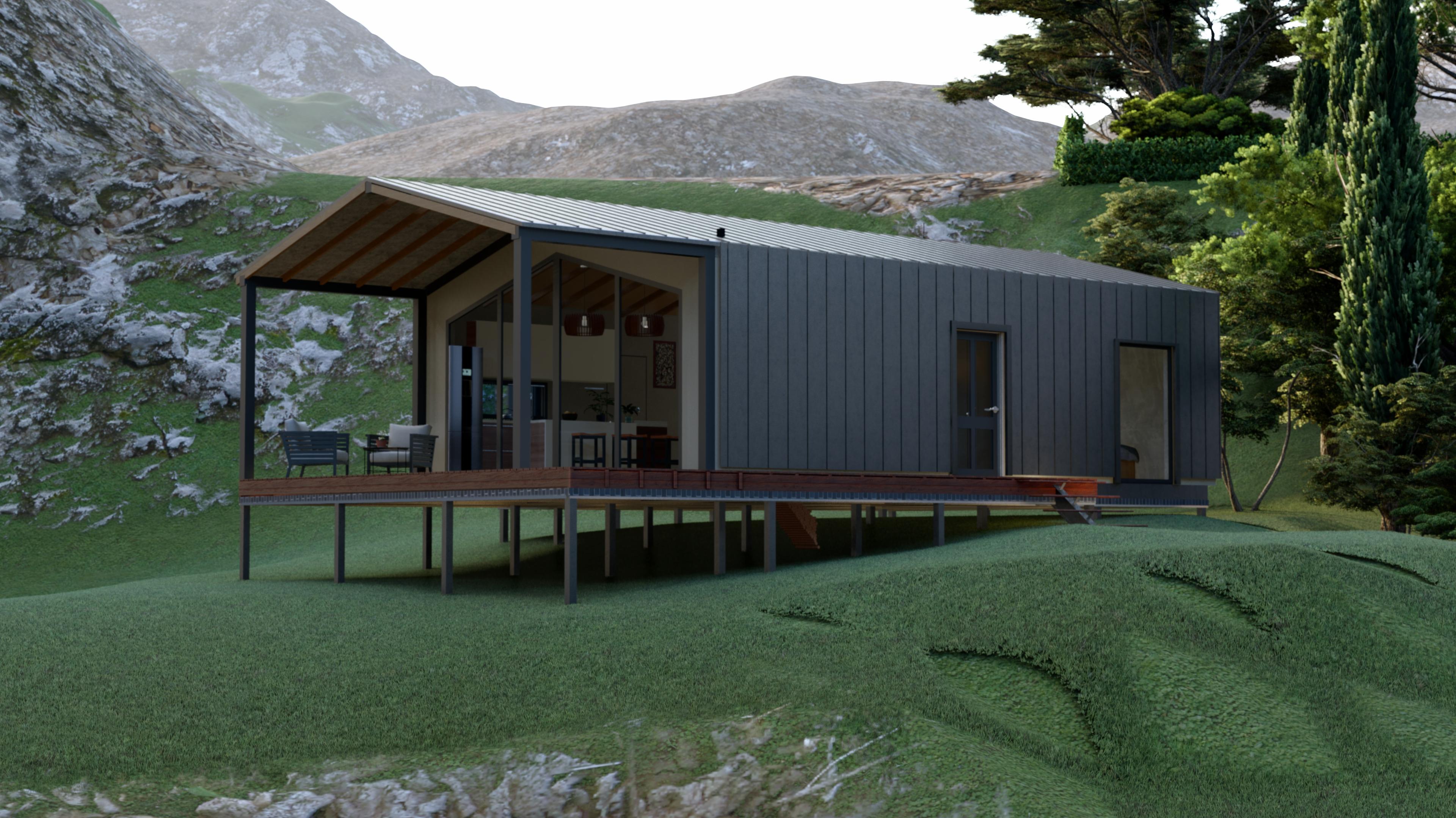 Строительство дома из СИП панелей площадью 104,2 м2 (Объект СДАН)
