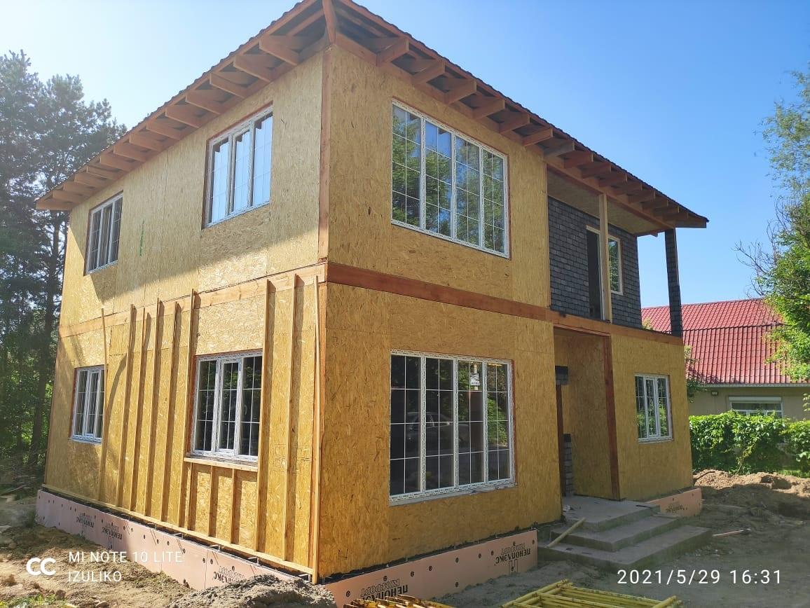 Строительство дома из СИП панелей площадью 173,2 м2 (Объект СДАН)