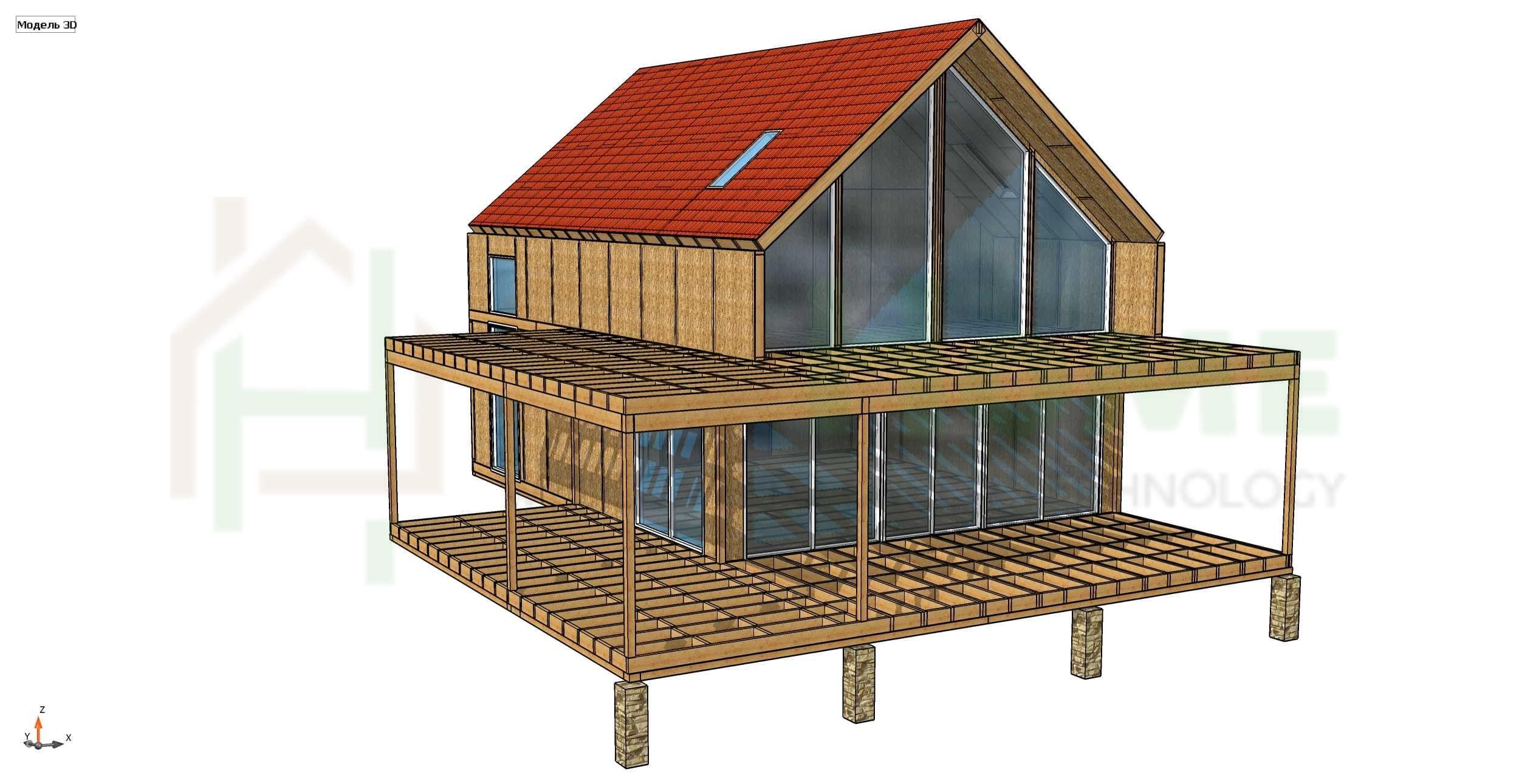 Строительство дома из СИП панелей площадью 307м2 (Объект СДАН)