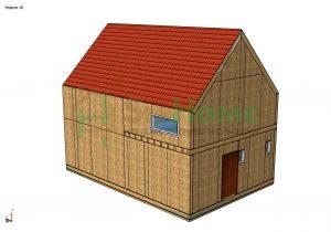 «Олимпия» - проект дома 77 кв.м из SIP панелей - 10098448 тенге