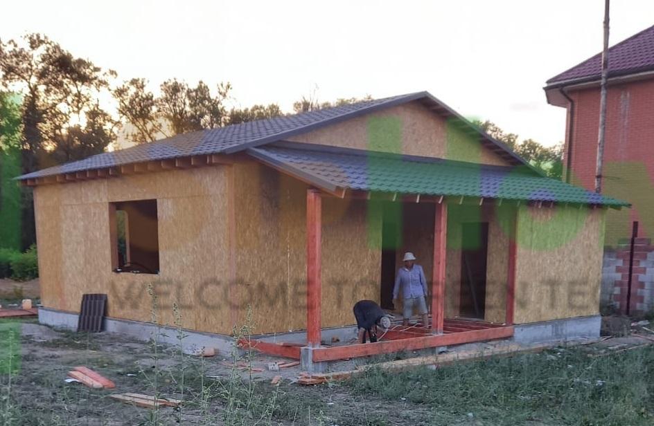 Строительство дома из СИП панелей площадью 95м2 (Объект СДАН)