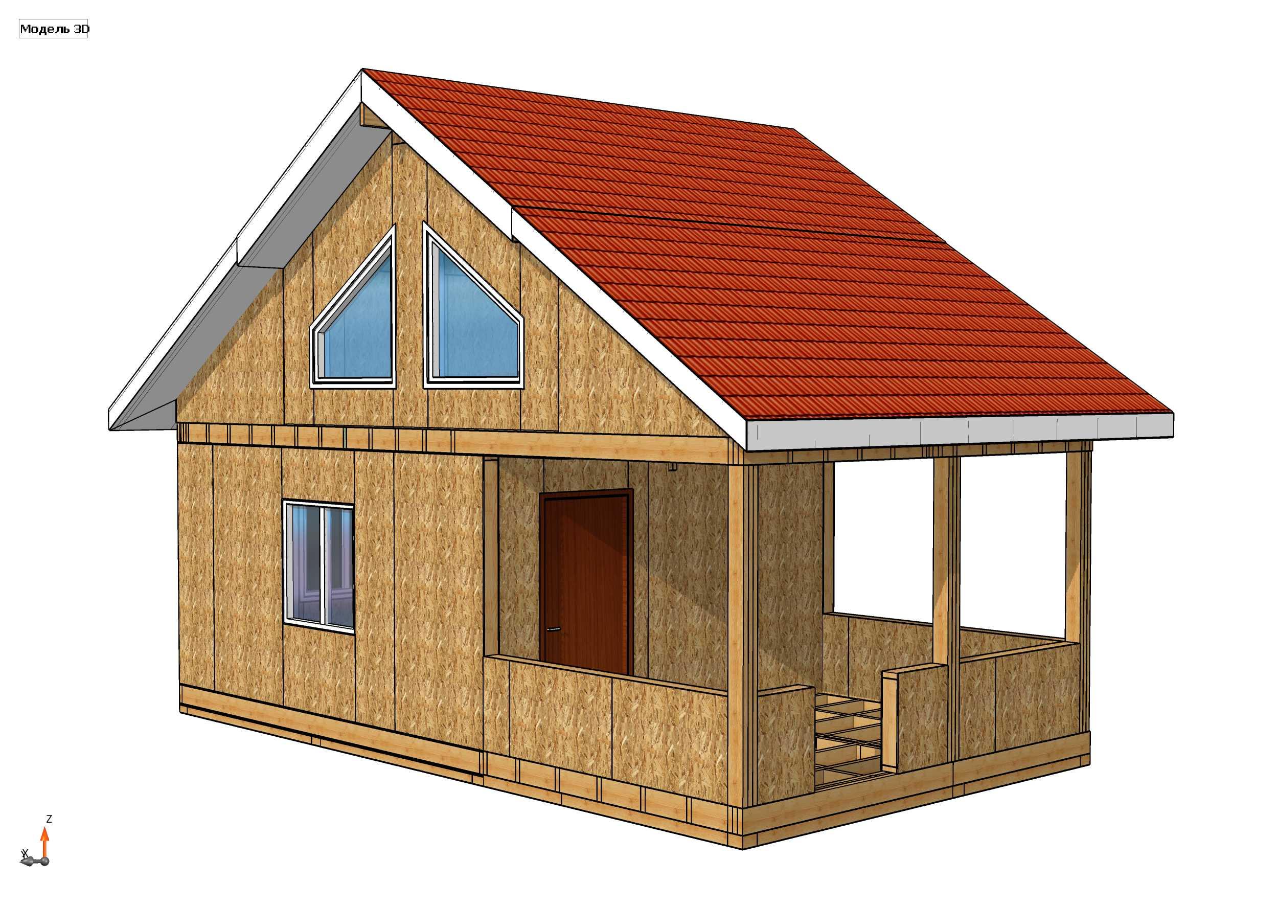 Строительство дома из СИП панелей площадью 67м2 (Объект СДАН)